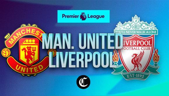 Manchester United vs. Liverpool se enfrentan este jueves por la Premier League. | Foto: Diseño EC