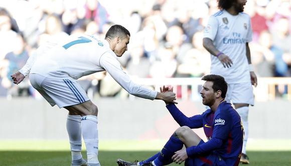 Lionel Messi y Cristiano Ronaldo se enfrentaron en el Clásico de España desde 2009 hasta 2018. (Foto: AP)