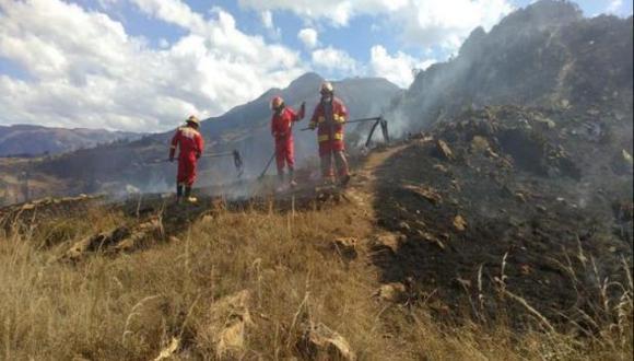 Apurímac: incendio forestal deja cuatro hectáreas de cobertura natural afectadas
