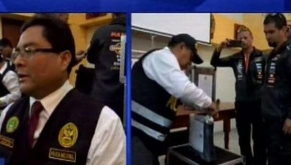 Agentes de la Divincri de Arequipa entregó equipos robados a pilotos en Arequipa. (Foto: Captura Canal N)