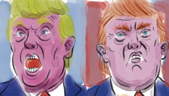 """""""El discurso de Trump sobre el peligro socialista, sin embargo, está calando entre algunos grupos en la Florida"""". (Ilustración: Victor Aguilar)"""