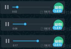 Audios más rápidos: WhatsApp inicia pruebas de reproducción acelerada de mensajes de voz