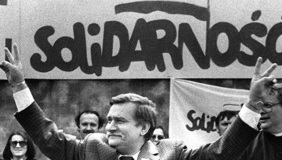 Lech Walesa, cofundador de Solidaridad y exmandatario de Polonia, durante la campaña para las presidenciales en 1989. (Foto: Reuters)