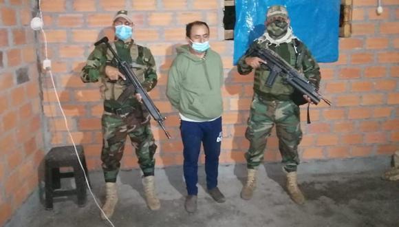 Una docena de agentes del Departamento de Operaciones Tácticas Antidrogas (Depotad)-Tarapoto participó en la captura de Gregorio Santos. (Foto: PNP)