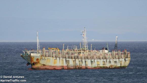 Barco chino LU YAN YUAN YU 016. Esta embarcación tiene el mismo número de identificación que el barco que escapó de la Armada argentina. Foto: Marinetraffic.