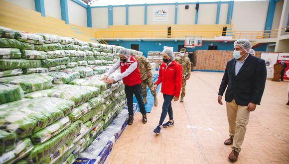 Arequipa: 611 toneladas de alimentos de Qali Warma fueron entregados en Mariano Melgar (Foto: Midis)