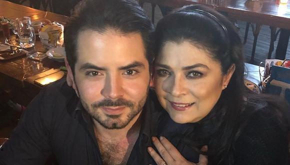 Victoria Ruffo junto a José Eduardo, el hijo que tuvo con Eugenio Derbez. (Foto: @victoriaruffo).