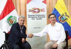 Vizcarra y Moreno suscribieron declaración conjunta tras XIII Gabinete Binacional entre Perú y Ecuador