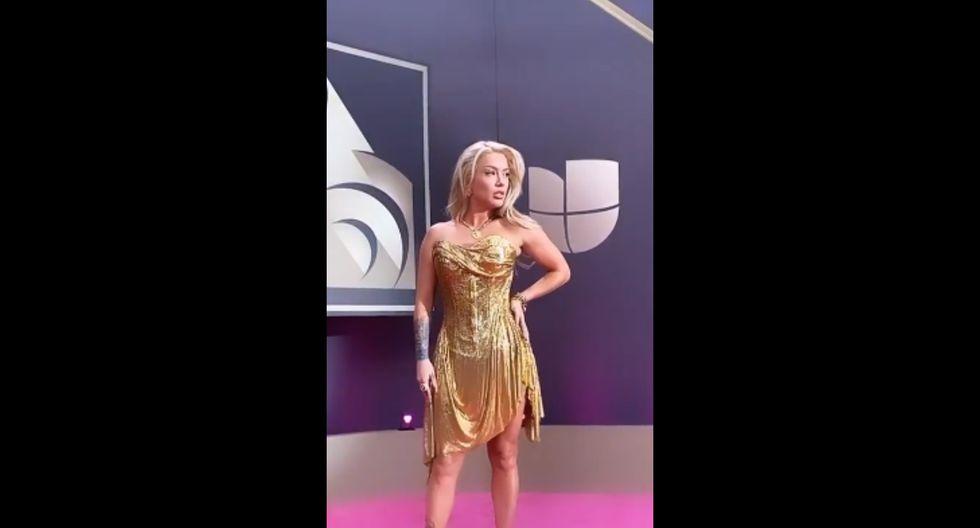 Leslie Shaw en los Premios Lo Nuestro 2020. Foto: Instagram.