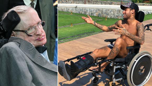"Criticas a Neymar por su ""homenaje"" a Stephen Hawking. (Foto: AFP/Instagram)"