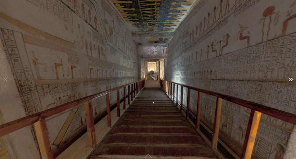 Explora las tumbas de los faraones del Antiguo Egipto gracias a la tecnología 3D.  / Foto: Tumba de Ramsés VI