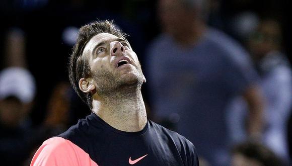 Juan Martín Del Potro perdió en 'tie break' el segundo set del Masters 1000 de Miami ante John Isner.