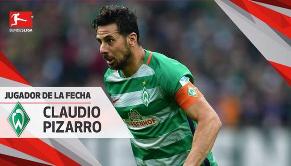 Pizarro: elegido el jugador de la fecha 23° de la Bundesliga