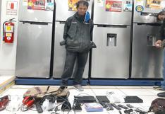 Ica: detienen a tres sujetos que fueron sorprendidos robando en una tienda de electrodomésticos