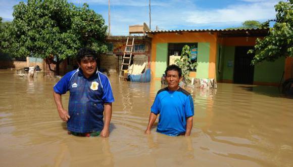 Pedregal vuelve a inundarse por desborde del río Piura [VIDEO]