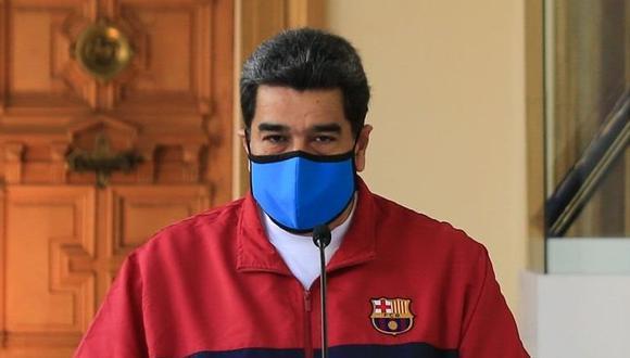 Nicolás Maduro habló sobre el coronavirus en Venezuela en cadena nacional de radio y televisión. (EFE).
