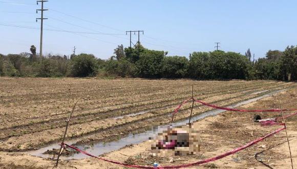 La mujer fue hallada sin vida en un terreno agrícola. (Foto: cortesía Elsa Pereda)