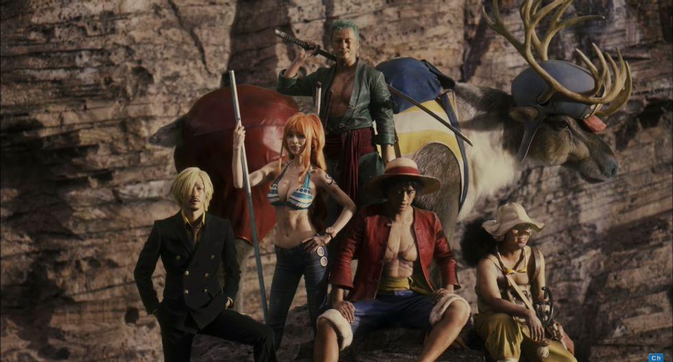 """Personajes de """"One Piece"""" en versión real. (Fuente: YouTube)"""