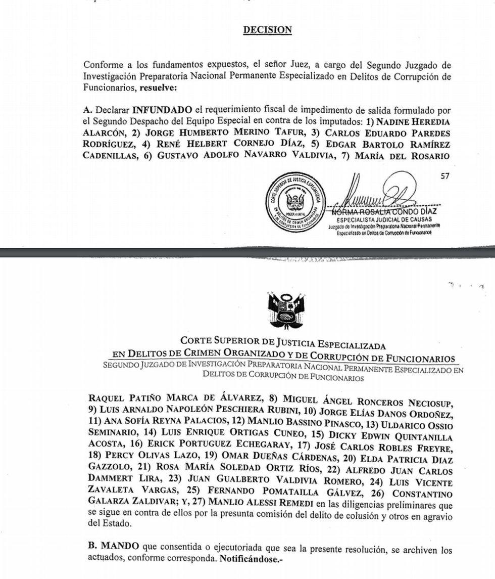 Resolución judicial sobre Caso Gasoducto