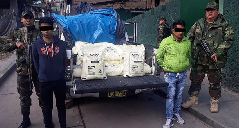 Vraem: incautan una tonelada de insumos químicos para elaboración de cocaína
