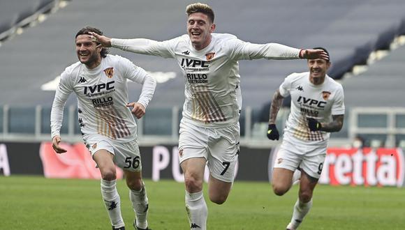 Gianluca Lapadula jugó en triunfo de Benevento sobre Juventus | Foto: AP