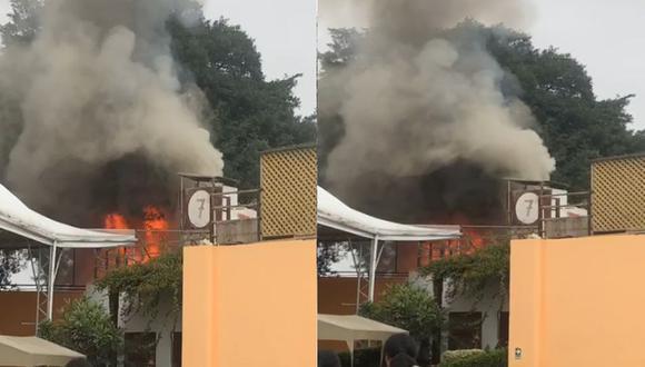 Incendio en Barranco. (Difusión)