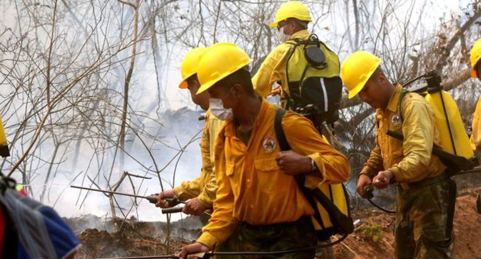 Un incendio ha afectado en Bolivia a cientos de miles de hectáreas de la Chiquitanía, una zona boscosa de transición entre la Amazonía y el Chaco. (Foto: GETTY IMAGES, vía BBC Mundo).