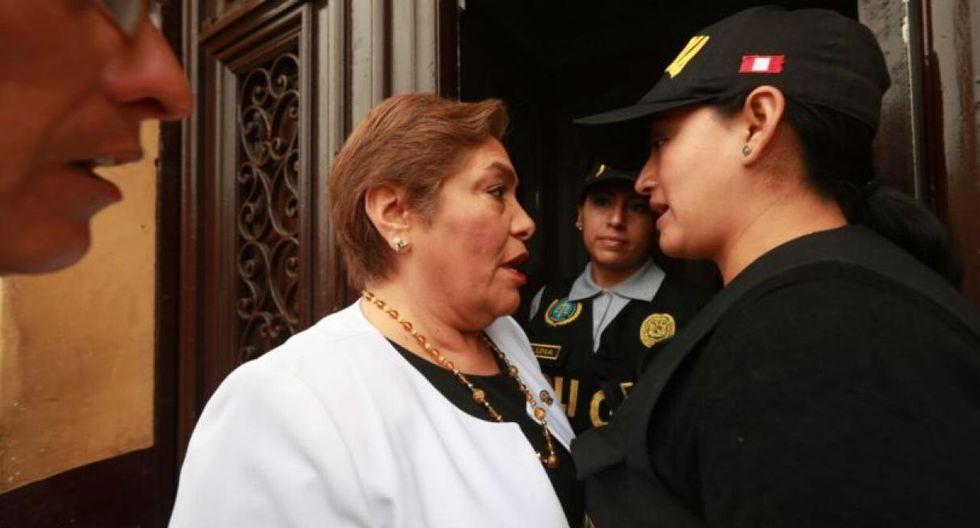 El juez Richard Concepción Carhuancho autorizó a la fiscalía para allanar dos inmuebles vinculados a Fuerza Popular en el centro de Lima y en Surco. (Foto: Juan Ponce / El Comercio)