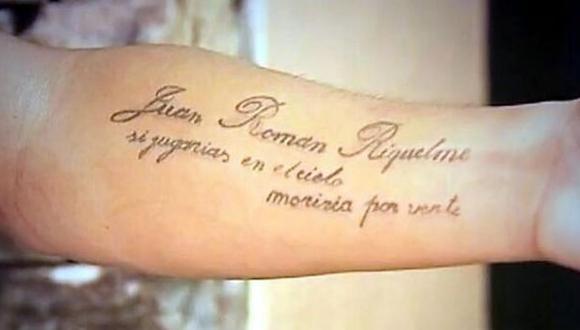 Un jugador de Lanús se hizo un tatuaje en honor a Riquelme