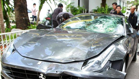 El 3 de septiembre de 2012, Boss, uno de los herederos de la familia cuya fortuna según Forbes es de más de 20.000 millones de dólares, atropelló con su Ferrari a un policía en motocicleta, lo arrastró 200 metros, lo mató y se dio a la fuga. Hoy sigue en libertad. (AFP).