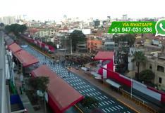 Fiestas Patrias: así luce Av. Brasil antes de la Parada Militar