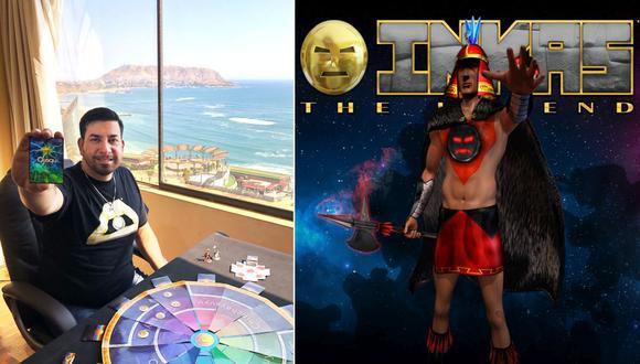 """Jorge Tello Aliaga (izquierda) junto a""""Inkas: la leyenda"""", un juego de estrategia que trata de una guerra entre los incas y los chancas. (Foto: Inkas: The Legend/Facebook)"""