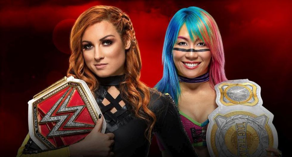Becky Lynch vs Asuka por el título de RAW. (WWE)