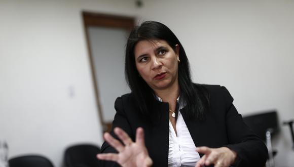 La procuradora ad hoc Silvana Carrión saludó la decisión de la constructora brasileña. (Renzo Salazar)