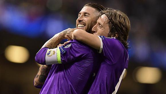 Sergio Ramos y Luka Modric son compañeros en Real Madrid desde la temporada 2012-13. (Foto: AFP)
