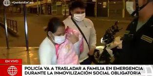Coronavirus en Perú: Policías trasladan a familia a centro médico durante aislamiento social