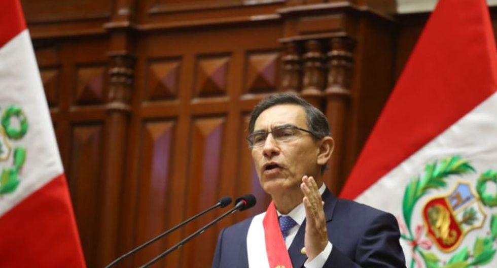 Martín Vizcarra durante su mensaje a la nación del pasado 28 de julio | Foto: Andina