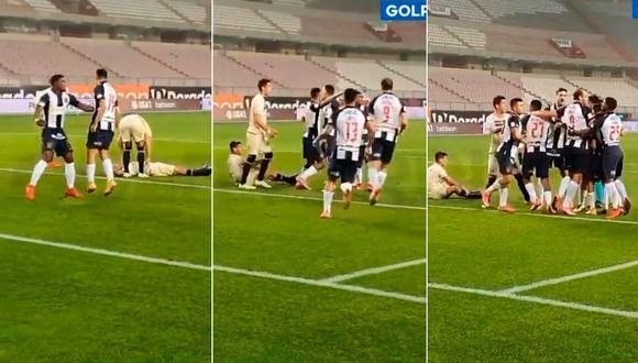 Axel Moyano marcó el gol de la victoria para Alianza Lima sobre Universitario   Foto: Captura Gol Perú.