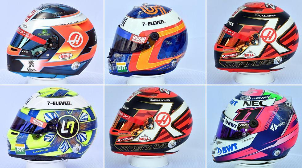 Cascos Fórmula 1