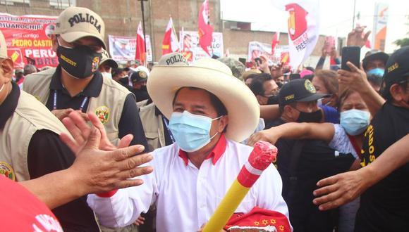 """Candidato presidencial de Perú Libre dijo esperar que el ministro de Salud, Óscar Ugarte, """"se deje ayudar"""" para contribuir a la vacunación. (Foto: Félix Ingaruca)"""