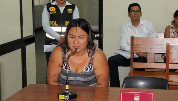 Quispe, abogada de profesión, intentó acogerse a la figura de terminación anticipada, pero el juez Francisco Fernández rechazó su pedido (Foto: PNP)