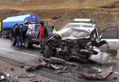 Junín: un muerto y 12 heridos deja choque en la Carretera Central
