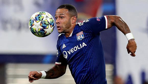 Memphis Depay tiene contrato con el Olympique de Lyon hasta finales de junio del 2021. (Foto: AFP)