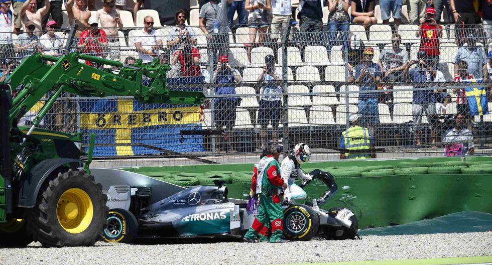 Así fue el terrible choque que sufrió Lewis Hamilton - 6