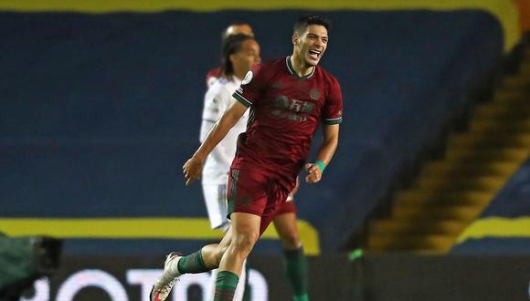 Leeds United perdió 1-0 con Wolverhampton: Raúl Jiménez anotó el único gol del partido por Premier League. (Foto: AFP)