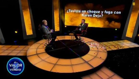 Pedro Moral confesó que tuvo un affaire con Karen Dejo. (Foto: Captura de video)