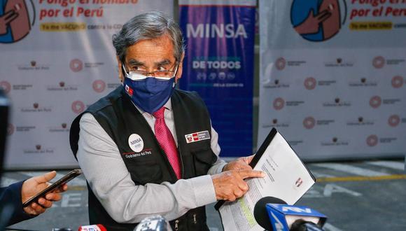 Reiteró que dejarán la programación de vacunación contra el COVID-19 estimada para toda población que podrá continuar el próximo gobierno. (Foto: Minsa)