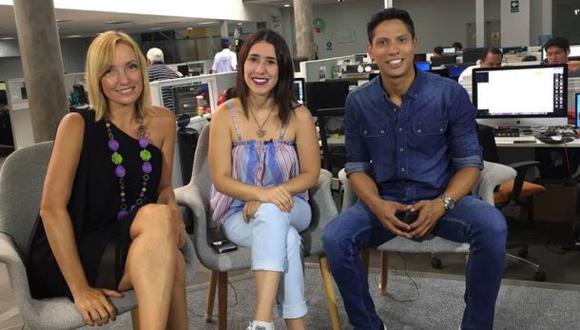 """Marisol Aguirre, Patricia Barreto y André Salas, actores de """"No me digas solterona"""". (Foto: El Comercio)"""