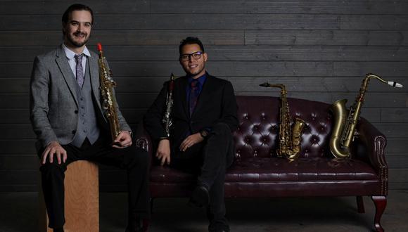 Lorenzo Ferrero y Aníbal Seminario, de Afro Peruvian Jazz Orchestra, ya ganaron un Grammy Latino en noviembre pasado. Ahora van por el Grammy Internacional. (Foto: Carla López)