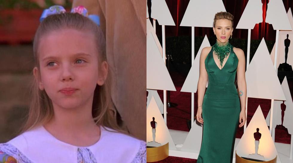 El antes y después de Scarlett Johansson. (Foto: El Comercio).